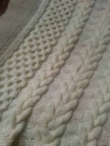 cable baby blanket 3