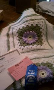 flower granny square blanket