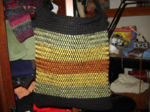 hippy bag tunisian crochet