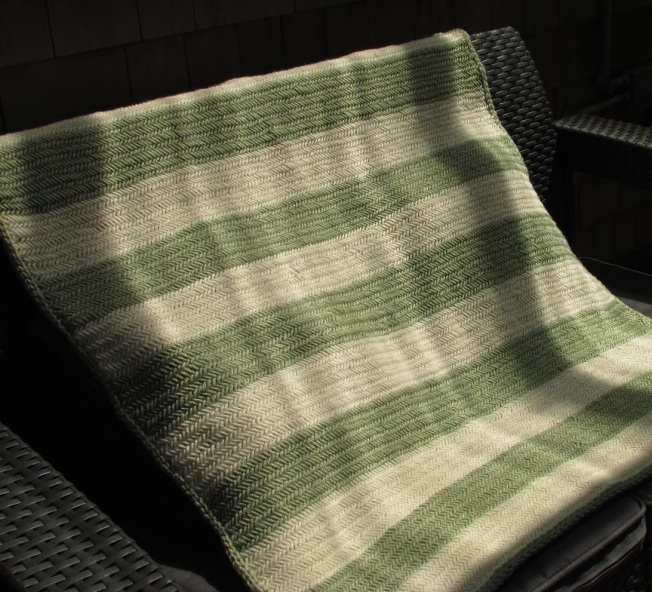 cropped herringbone blanket