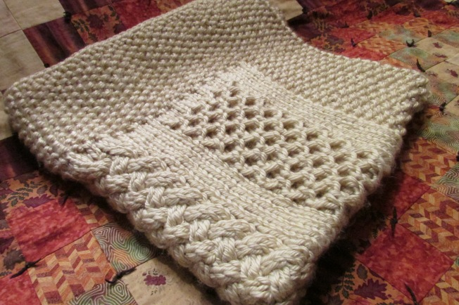 Knitting Pattern For Honeycomb Baby Blanket : cable baby blanket Etch Stitch and Burn