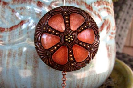 copper pinwheel close