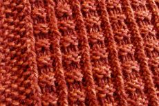 mostly knit and purl stitch with an occasional twisted stitch
