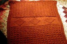 Rust Orange baby blanket
