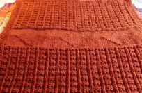 Beautiful twisted stitch really sets off the lines